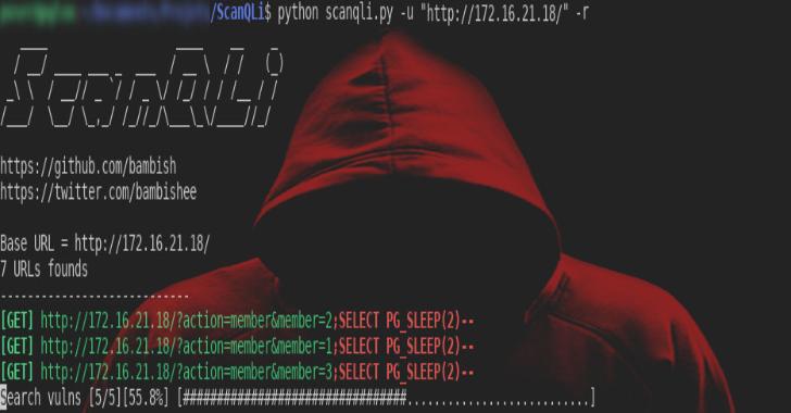 ScanQLi – To Detect SQL Vulns