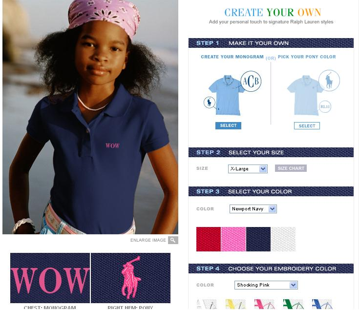 b28ba22ba For our review product, The Pea selected a girl's polo shirt. She was asked  to select from two options: our embroidered pony at the chest with matching  ...