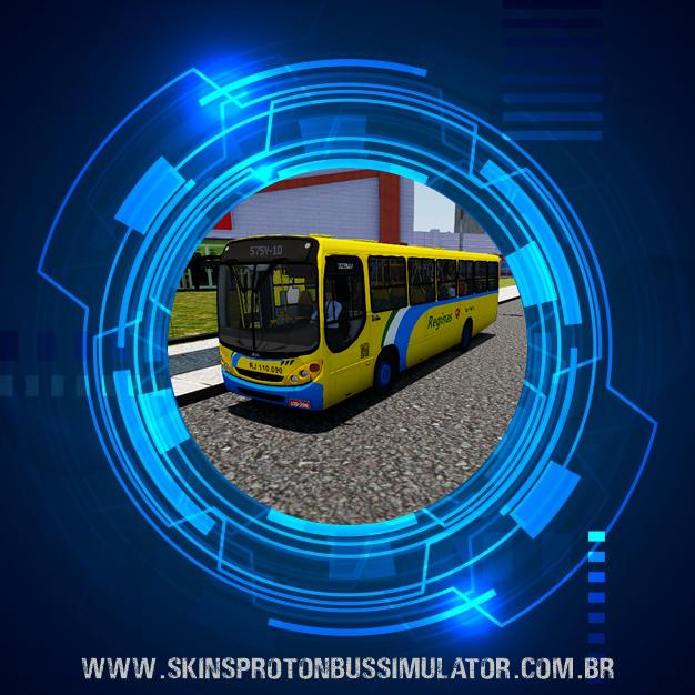 Skin Proton Bus Simulator - Comil Svelto 2000 MB OF-1418 Viação Reginas