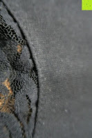 Stoff: Alexis Leroy Damen Kappenhülse Jahrgang Halter Split-Seite Formal Abendkleid
