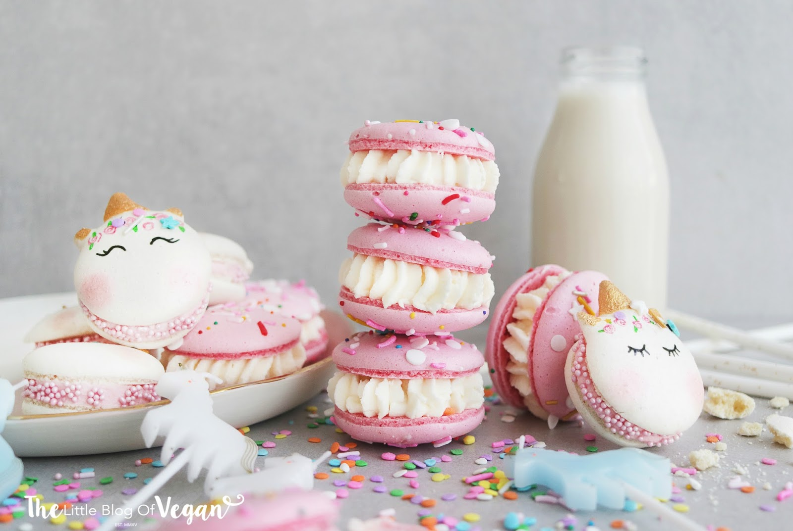 Unicorn Birthday Cake Macarons Recipe