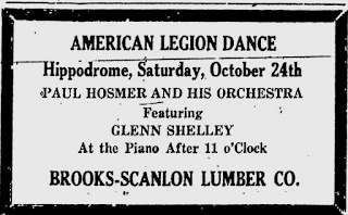 Paul Hosmer orchestra - newspaper ad