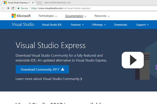 Installing-Microsoft-Visual-Studio-Express-in-Hindi-1