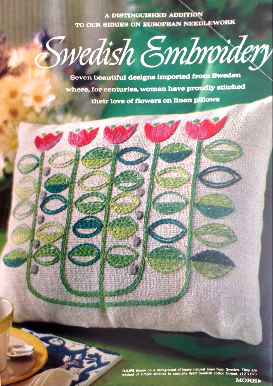 The Literate Quilter Swedish Embroidery From 1963