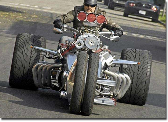 Motos mais bizarras do mundo - Triciclo Muscle-Cycle