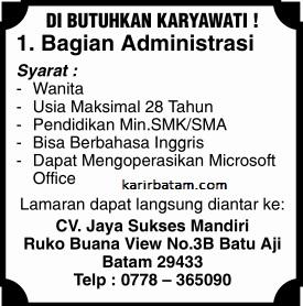 Lowongan Kerja CV. Jaya Sukses Mandiri