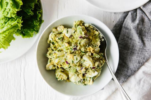 Avocado Egg Salad #healthy #keto