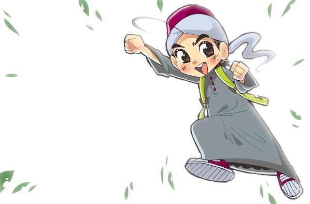 Gambar Rumah Kartun Comel Pilihan Gambar Kartun Muslimah Cantik