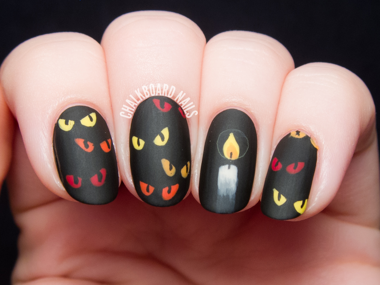 Are You Afraid of the Dark? - Spooky Eyes Nail Art ...