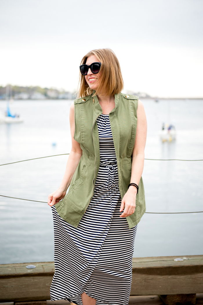 cabi boat stripe dress
