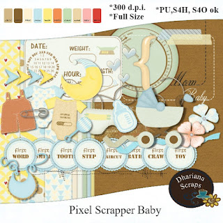 Pixel Scrapper baby Freebie