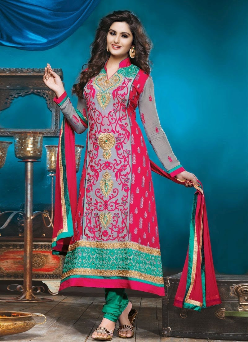 Latest Design Of Assam Type House: Latest Long Churidar Suits Collection 2015 For Indian