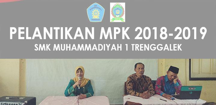 Sah, MPK SMK Muhammadiyah 1 Trenggalek periode 2018-2019 Resmi Dilantik
