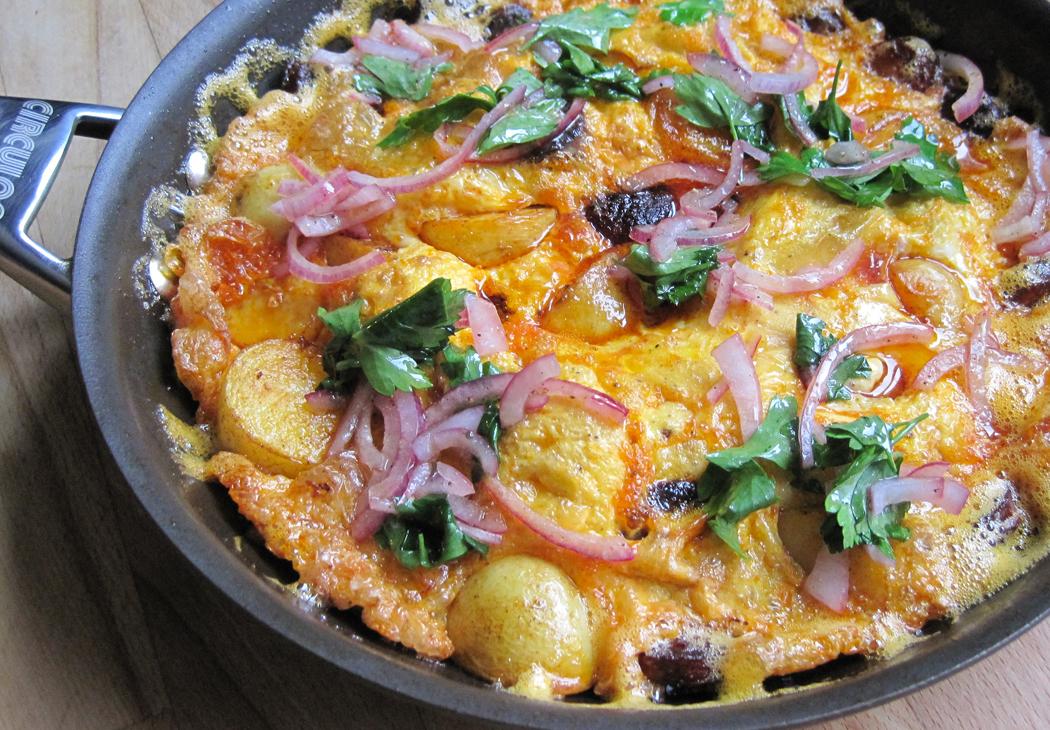 Potato and Chorizo Omelette
