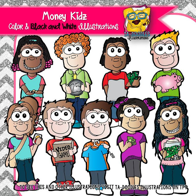 https://www.teacherspayteachers.com/Product/Children-with-Money-and-Financial-Literacy-Math-Commercial-Use-Clipart-2471366