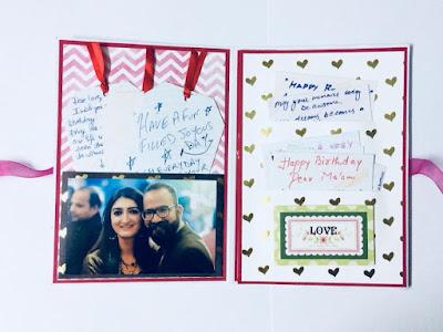 Handmade birthday card cum scrapbook