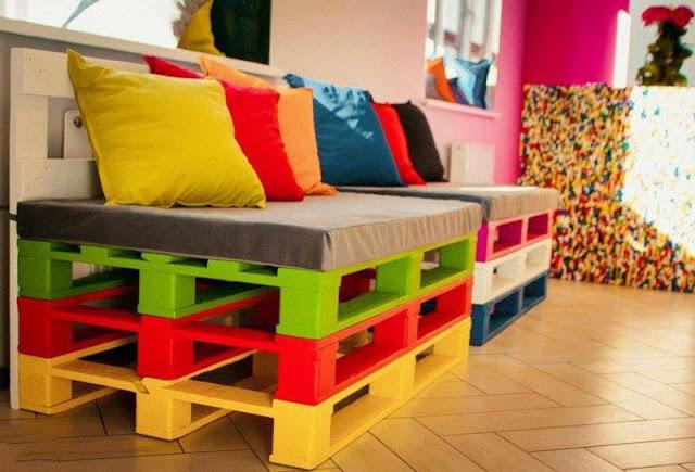 a continuacin tenis algunos ejemplos de como con la pintura y unos cuantos colores puede cambiar totalmente el carcter de un mueble - Muebles Con Palets