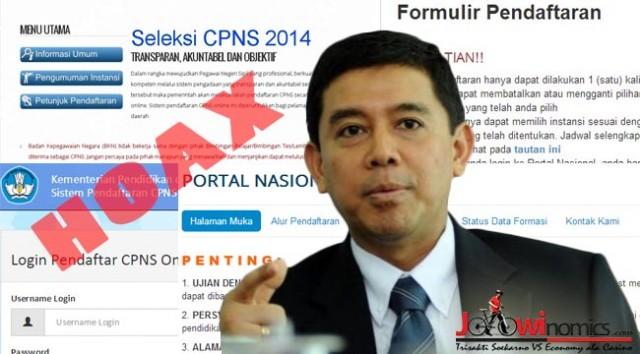 Pemerintah Akan Tindak 17 Situs Penyebar Informasi CPNS Palsu
