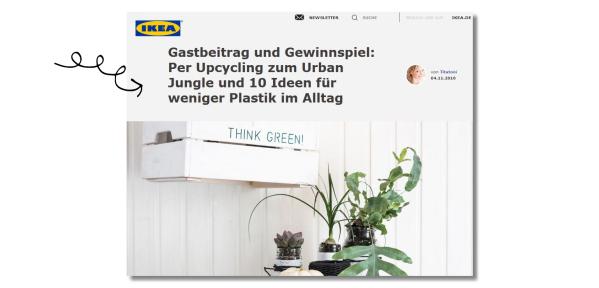 Gastbeitrag und Gewinnspiel: Per Upcycling zum Urban Jungle und 10 Ideen für weniger Plastik im Alltag von titatoni.de