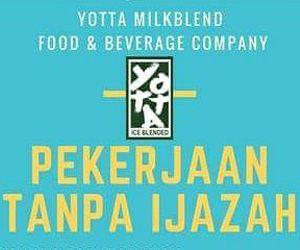 Lowongan Kerja Leader dan Staf Bartender di Yotta Milkblend