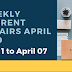 Weekly Current Affairs April 1 to April 07 2019
