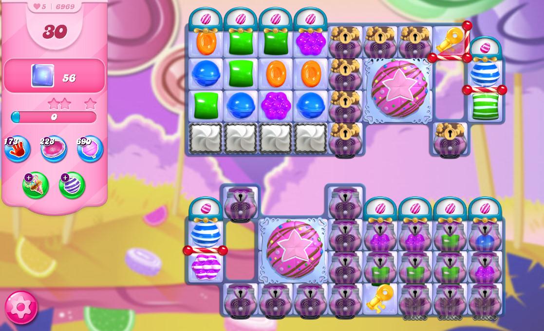 Candy Crush Saga level 6969