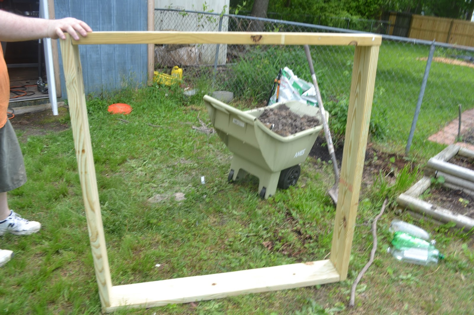 The frugal pantry 10 dollar square foot garden for Square feet ap style