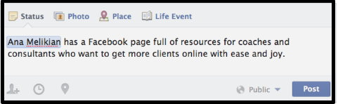 How to Tag a Business in a Facebook Post
