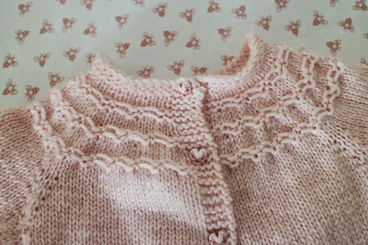 7e37624e1987 Lilacs and Springtime  Seamless Yoked Baby Sweater