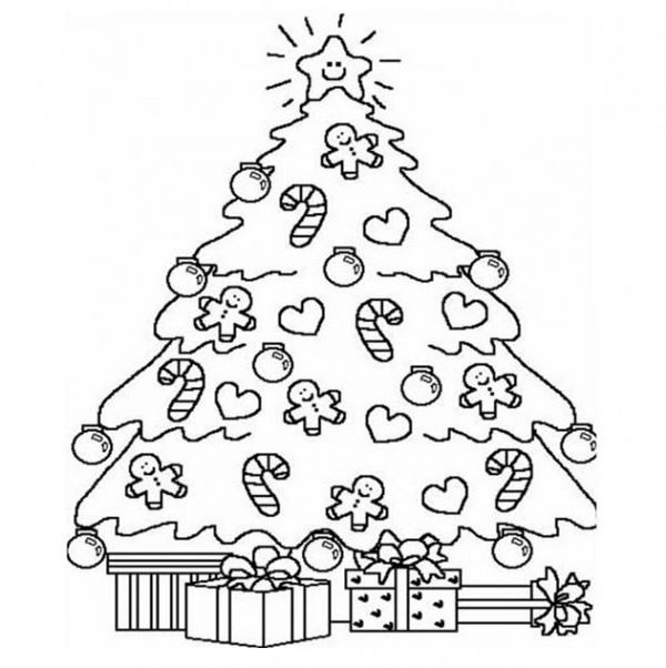40 Desenhos E Moldes De Arvore De Natal Para Colorir Pintar