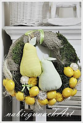 Cytryny i gruszki - wianuszek