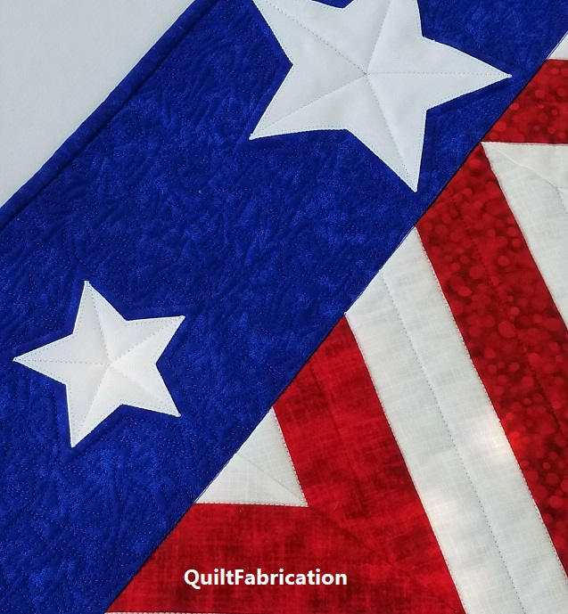 Salute stripes quilting