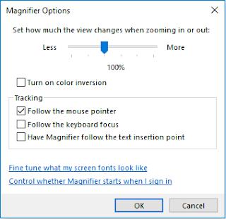 pengaturan magnifier