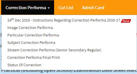 Correction Performa PSEB