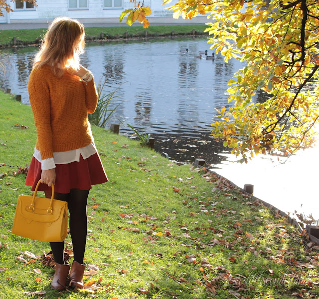 knitwear, josie´s little wonderland, outfit, fashion, blog, fashionpost, autumcolours, edmond louis bag, yellow bag