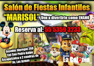 Salón de fiestas infantiles colonia San Pedro Xalpa