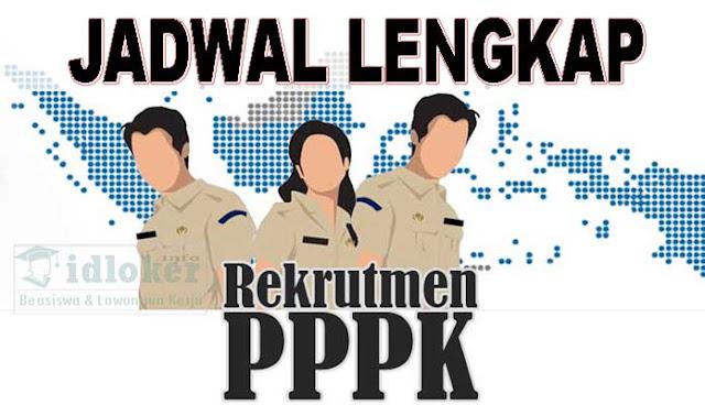 Jadwal Lengkap Rekrutmen PPPK Sejak pendaftaran Sampai Pengumuman Akhir