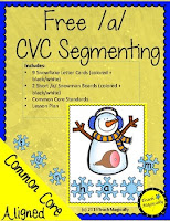 free segmenting  and successive blending snowmen from teachmagically