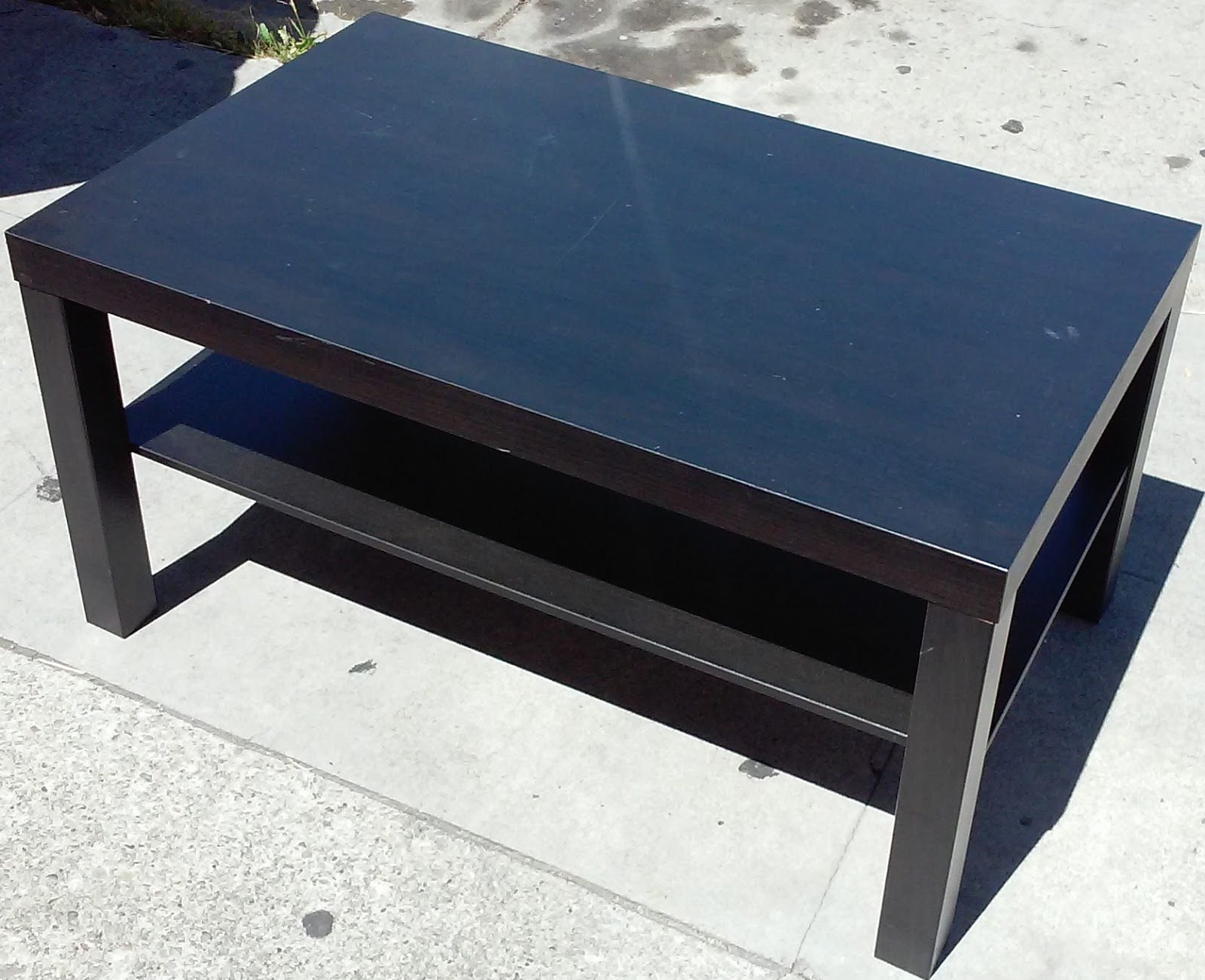 Uhuru furniture collectibles sold 3 39 wide ikea coffee for Coffee tables 50cm wide