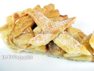Tarta cu mere taiata (imaginea retetei)