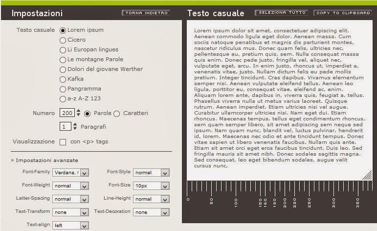 generatore di testi casuali online • scuolissima