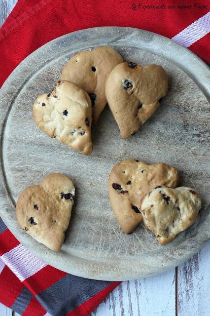 Experimente aus meiner Küche: Schokoladen-Brioche-Herzen
