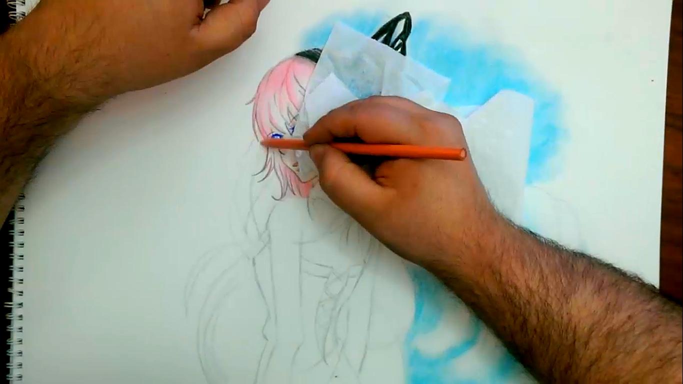 Triun Arts: COMO DIBUJAR A LUKA MEGURINE PASO A PASO