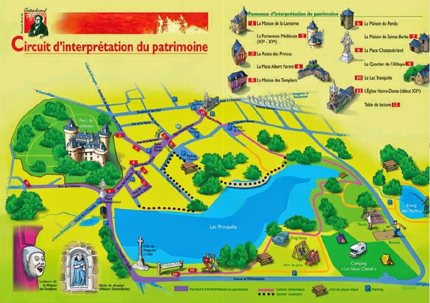 Mapa de Combourg.