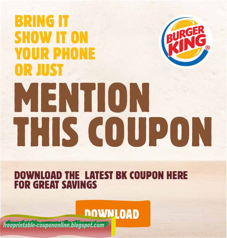 Burger King Coupons. Burger King is one of the most beloved American brand names; hearty meals at some of the best prices. Browse delicious menu items, see what's new and find a Burger King closest to you. Also find the coupons for the latest deals, seasonal offers and more.1/5(1).