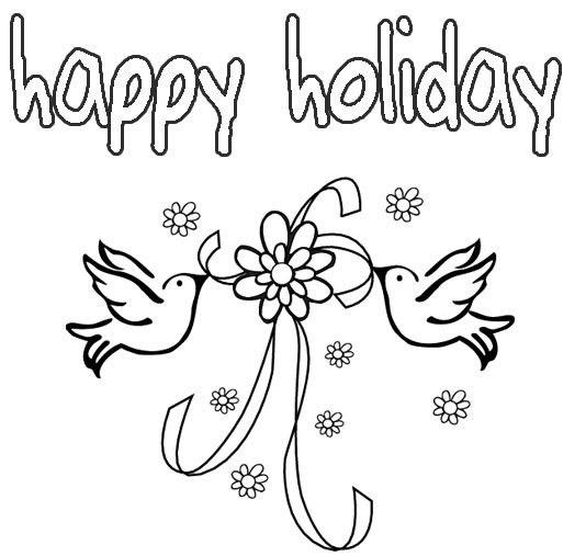 printable coloring pages for holidays - photo#8