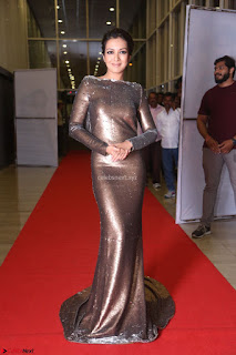 Actress Catherine Tresa in Golden Skin Tight Backless Gown at Gautam Nanda music launchi ~ Exclusive Celebrities Galleries 019.JPG