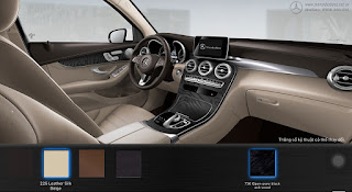 Nội thất Mercedes GLC 300 4MATIC 2019 màu Vàng Silk 225