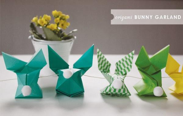 kilika hecho a mano origami conejo