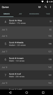 Quran for android Surah